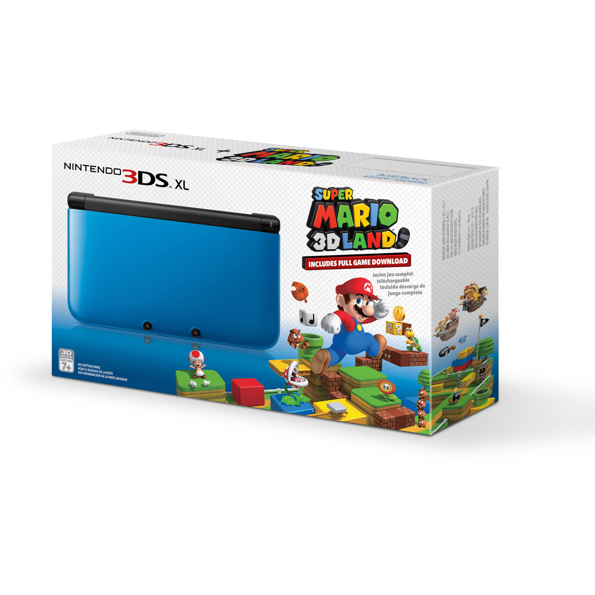 Nintendo 3DS XL Handheld Console with Super Mario 3D Land, Blue