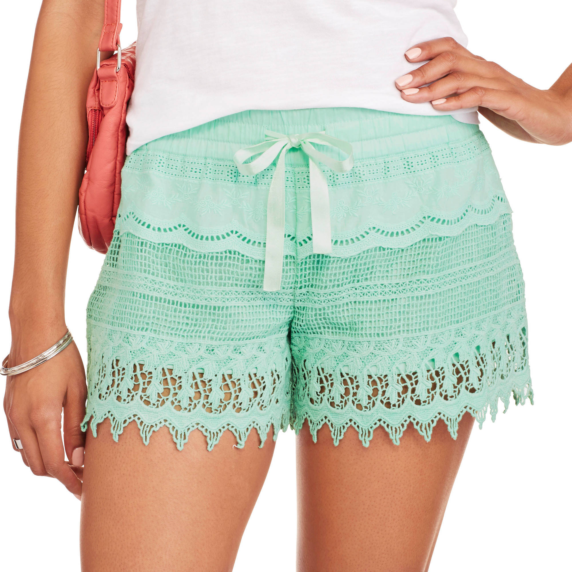 No Boundaries Crochet Short - Walmart.com
