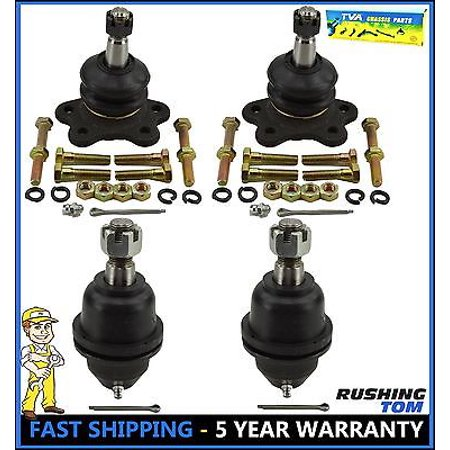 Fit Escalade K1500 K2500 Tahoe New 4 Pc Suspension Kit Upper & Lower Ball Joints