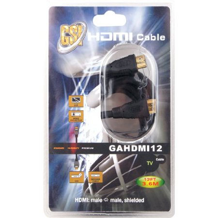 12 ft. High Definition HDMI Cable, - Skirted Definition
