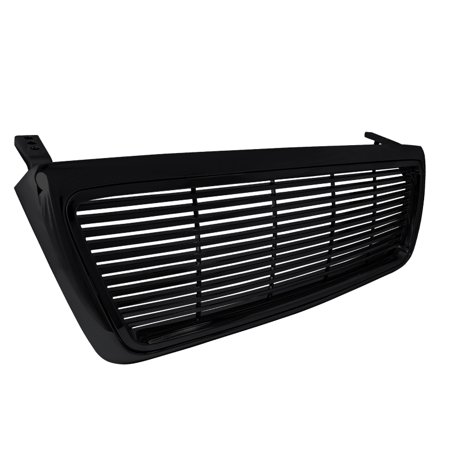 Spec-D Tuning For 2004-2008 Ford F150 1Pc Black Billet Front Grille Grill 2004 2005 2006 2007 2008 03 Ford F150 Billet Grille