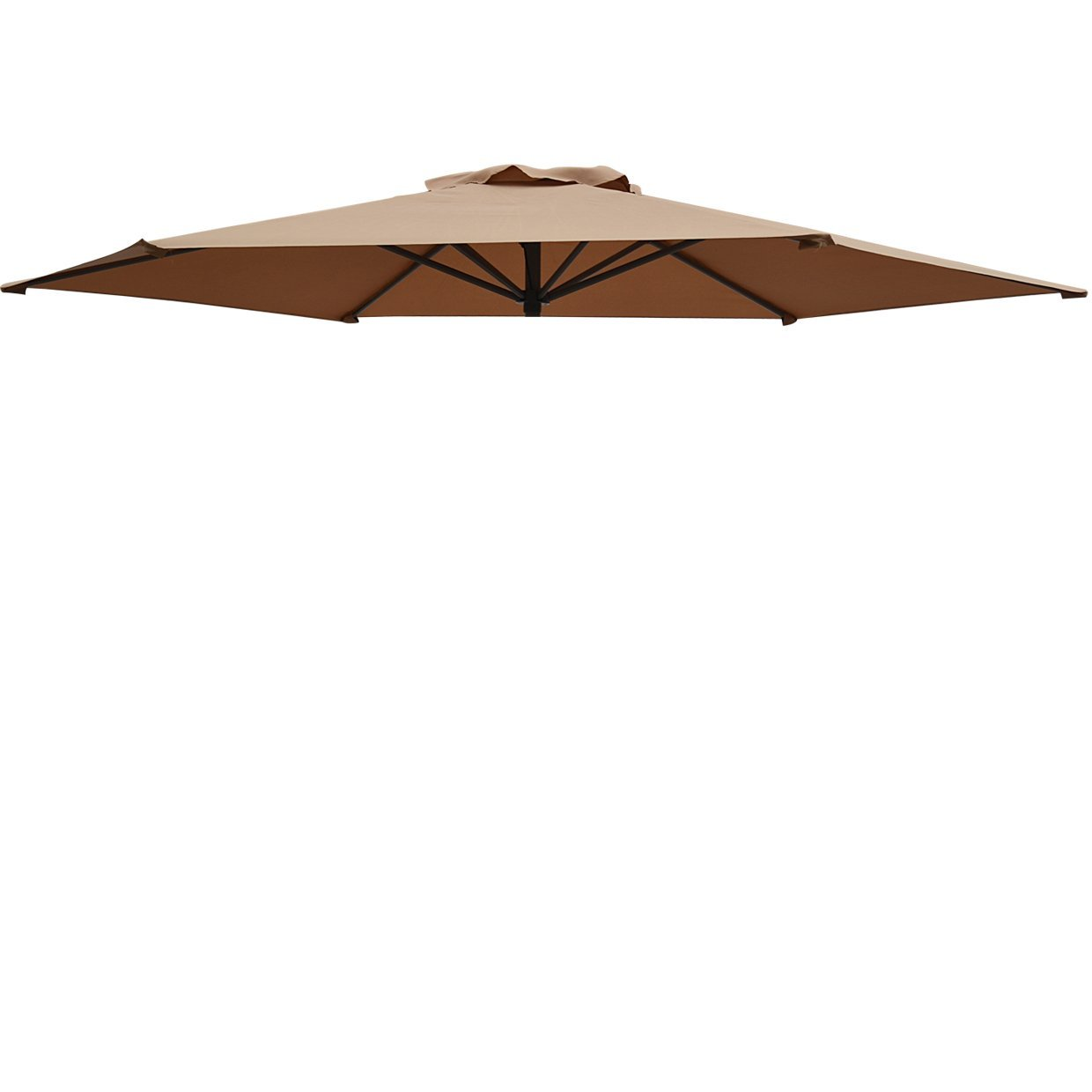 Replacement Patio Umbrella Canopy Cover For 9ft 6 Ribs Umbrella (CANOPY  ONLY) Tan