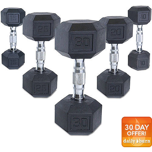 CAP Barbell Coated Hex Dumbbell, Single