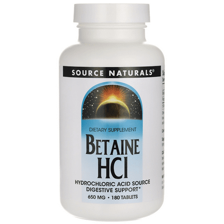 Source Naturals Betaine Hcl 650 mg 180 Tabs