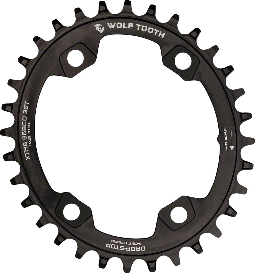 Wolf Tooth Components PowerTrac Drop-Stop Chainring: 30T x 96 Shimano Asymmetric M9000