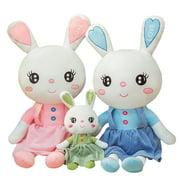 Carolilly Bunny Stuffed Animal Cute Rabbit Plush Toy Baby Shower Gift for Toddler Boys Girls