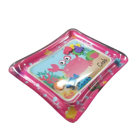 50 * 60cm Baby Colorful Inflatable Water Play Mat Tummy Time Infant Fun Mat Child Development Play Center with Hand Inflator Pump for 4~6 Years Old (2 Year Old Complaining Of Tummy Ache)