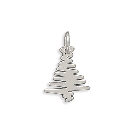 Christmas Tree Star Charm - Christmas Tree Charm Abstract with Star