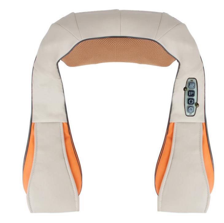U Shape Electrical Shiatsu Back Neck Shoulder Body Massager Kneading Multi-function Car Home Massagem Relaxation Device EU plug