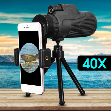 Dual Voltage Lens (40X60 Outdoor Concert Dual Focus Optical Zoom Monocular Telescope Telephoto Camera Lens + Mobile Phone Holder + Tripod )