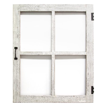"29.5"" X 1.5"" X 36"" Distressed White Faux Window Pane"