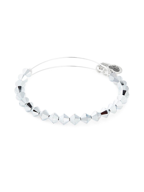 Silvertone Beaded Bracelet