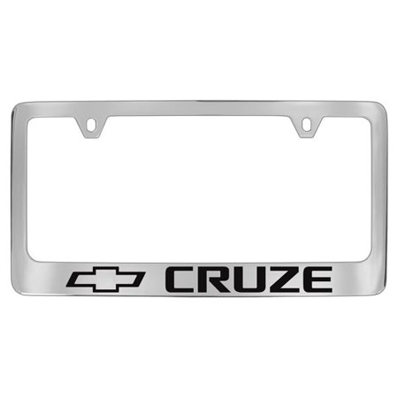 Chevrolet Cruze Chrome Plated Metal License Plate Frame Holder Chevrolet License Plate Frame