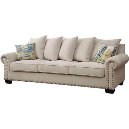 Furniture of America Colleen Transitional Sofa, Ivory ()