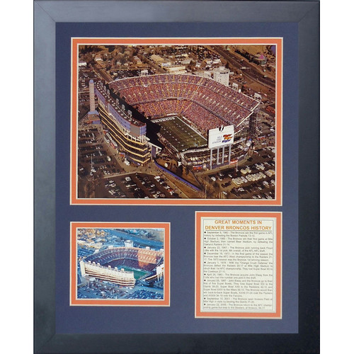 Legends Never Die Denver Broncos Mile High Stadium Framed Memorabili