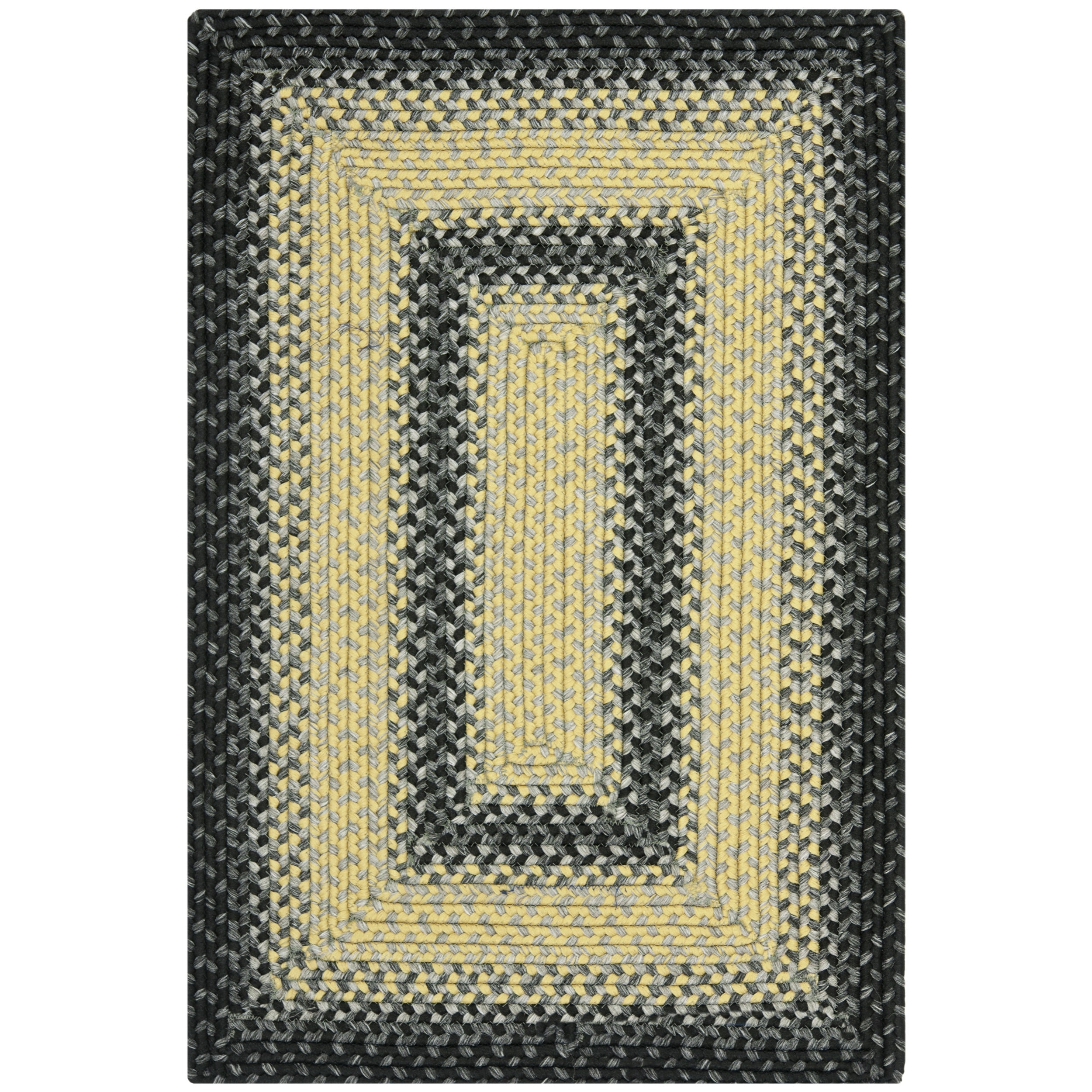 Safavieh Hand Woven Country Living Reversible Black/ Grey Braided Rug (2u00276