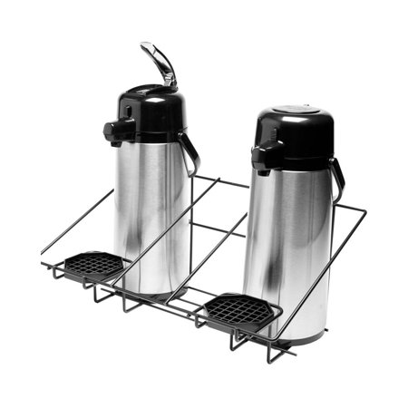 - Service Ideas APR2BLC Black Steel Wire Rack for 2 Airpots