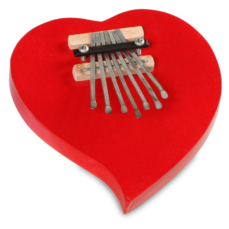 X8 Drums Red Heart Kalimba