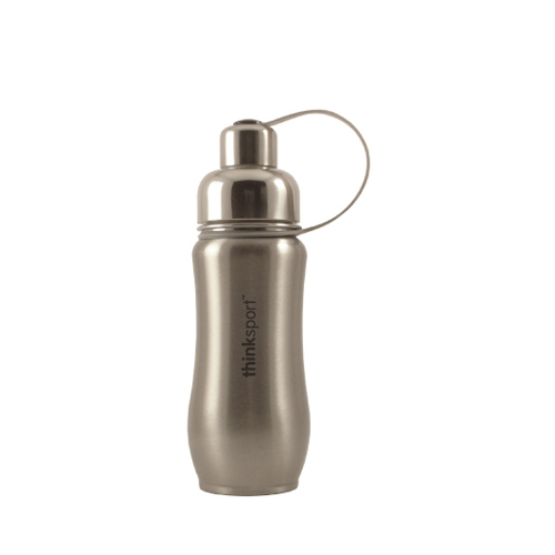 Thinksport Stainless Steel Sports Bottle - Silver - 12 oz