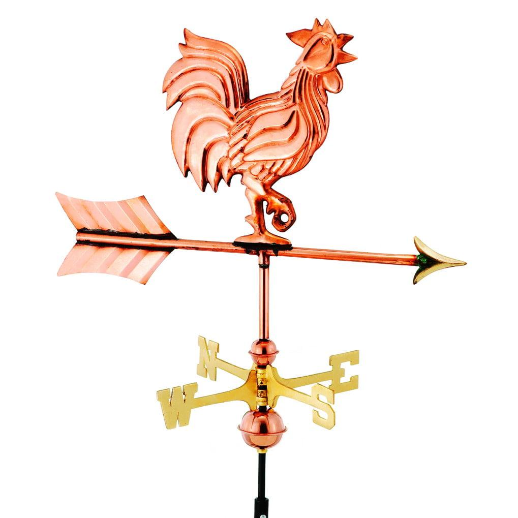 Garden Rooster Copper Weather Vane Garden Rooster Coppertone Weathervane w  Garden Pole by Good Directions