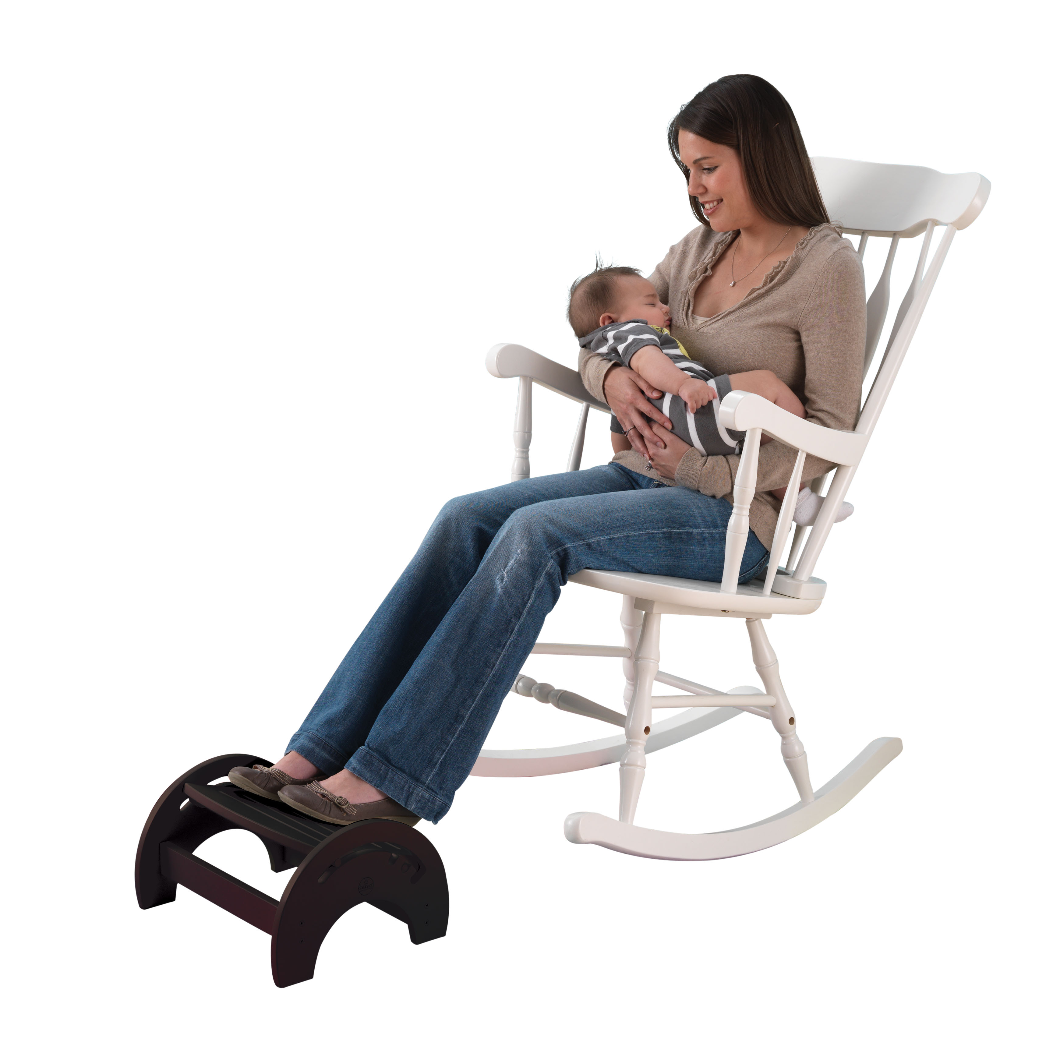 KidKraft Adjustable Stool for Nursing - Espresso