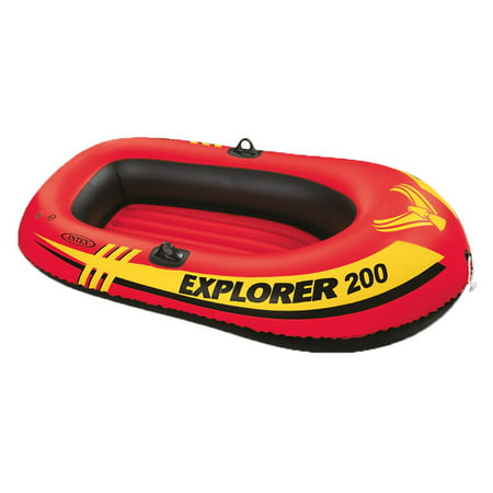 Intex Explorer 200 Inflatable 2 Person River Boat Raft Set with 2 Oars & (Best Inflatable River Rafts)
