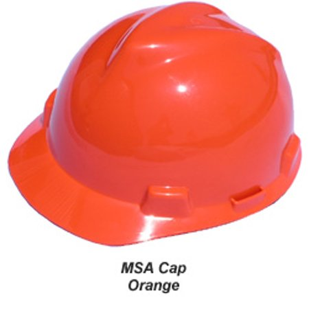 MSA V-Gard Cap Style Hard Hats with One Touch Suspensions Standard Orange