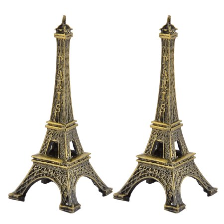 Paris Eiffel Tower Decor (Home Decor Metal Paris Eiffel Tower Model Souvenir Bronze Tone 8cm Height 2)