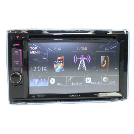 Kenwood DDX372BT Touchscreen Bluetooth Double DVD CD Player Car Stereo Receiver (Bluetooth Dvd Cd Car Stereo)