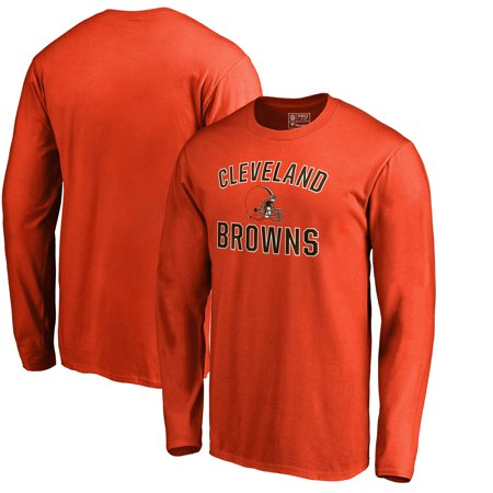 Cleveland Browns NFL Pro Line by Fanatics Branded Victory Arch Long Sleeve T-Shirt - Orange