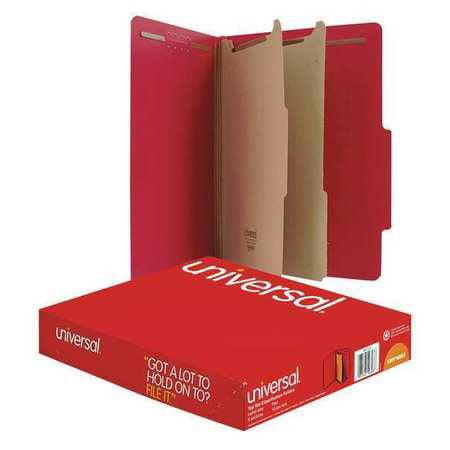 UNIVERSAL Classification Folder,Lttr,Ruby Red,PK10 UNV10303