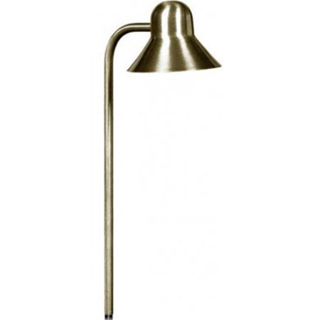 Dabmar Lighting LV-LED217-ABS 2.5W & 12V JC-LED Solid Brass Bell Path Light - Antique Brass Bell Head Path Light