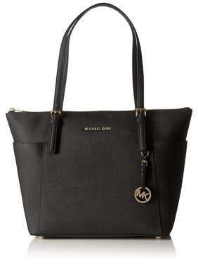 5350f85ba1e05 Product Image 30F4GTTT9L-001 Jet Set Large Top-Zip Saffiano Leather Tote -  Black. Michael Kors