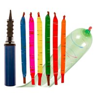 100-Pack of Rocket Balloons with Pump - Party Pack - Watch These Balloons Rocket to the Sky!