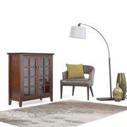WyndenHall  Stratford Solid Wood 38 inch Wide Contemporary Medium Storage Cabinet in Medium Auburn Brown