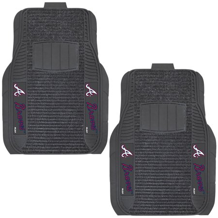 Atlanta Braves Two Piece Deluxe Car Mat Set No Size