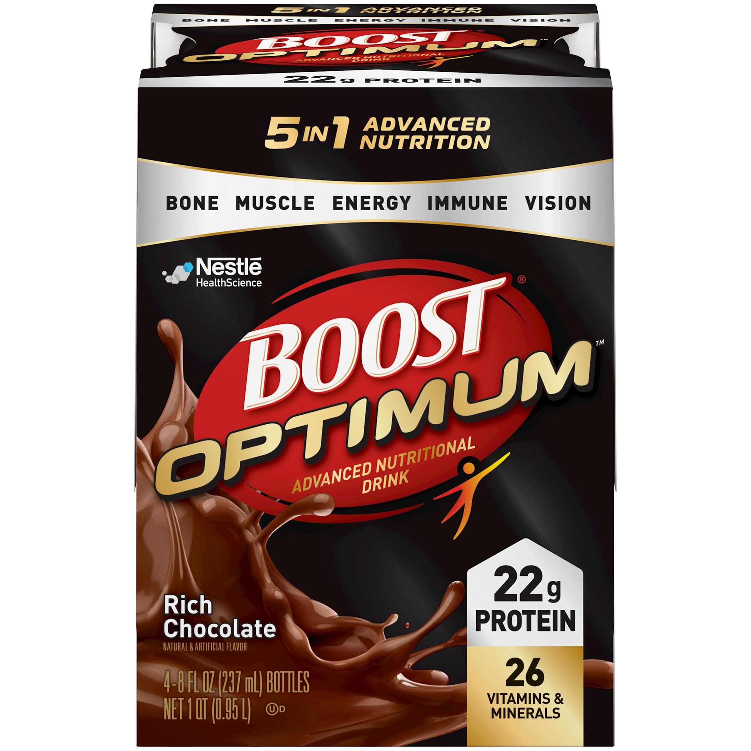 BOOST OPTIMUM Rich Chocolate 4-8 fl. oz. Bottles