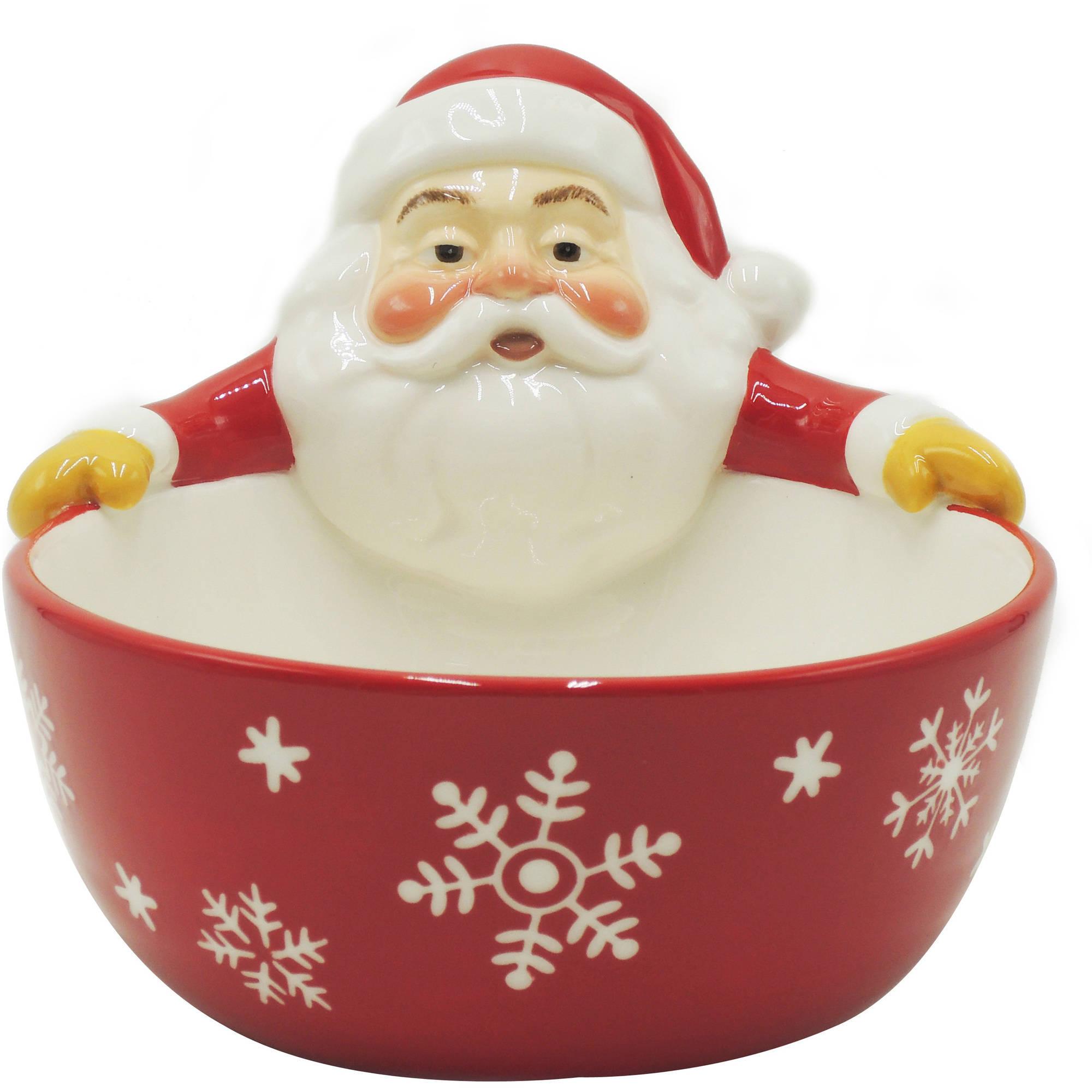 Holiday Time Figural Santa Bowl, Set of 4