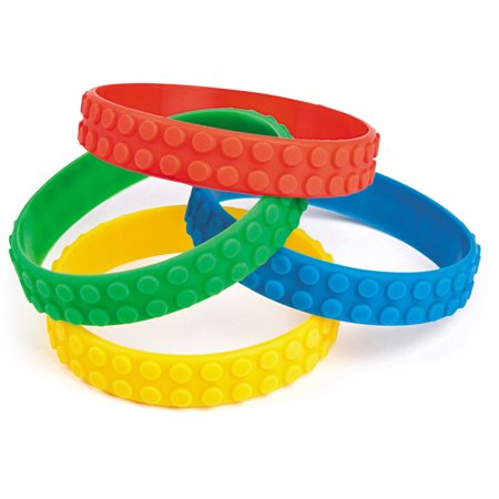 Block Party Rubber Bracelet (12 Pack) - Party Supplies](Sf Halloween Block Party)