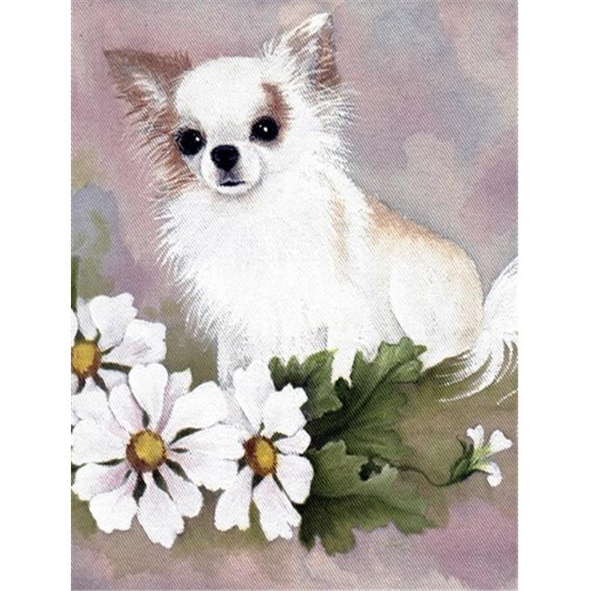Chihuahua White Flowers Flag Garden Size - image 1 de 1