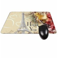 I Love You - Paris Design Rectangle Shaped Mouse Pad - Love/ Valentine's Day Gift