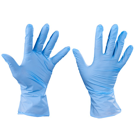 Box Partners Nitrile Gloves,Exam Grade,Large,BL,100/CS - BXP GLV2009L