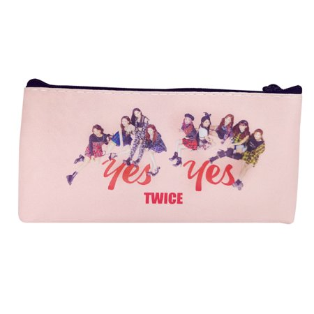 Fancyleo TWICE EXO BLACKPINK PU Leather Pencil Cases Small Simple Pencil Pouches Makeup Pouch (Pencil Cases Small)