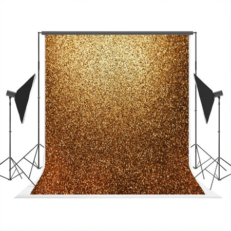 GreenDecor Polyster 5x7ft Golden Photography Backdrops Party Photo Booth Props Backdrop Portrait Glitter Background for Weeding,Homecoming,Prom - Backdrop For Photo Booth