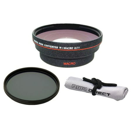 Olympus STYLUS XZ-2 iHS (High Definition) 0.5x Wide Angle Lens With Macro + 82mm Circular Polarizing Filter + Nwv (Best Olympus Wide Angles)