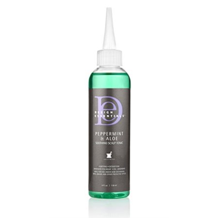 Design Essentials Peppermint & Aloe Soothing Scalp & Skin Tonic for Instant Itch Relief from Scalp Irritation-4oz. (Scalp Pain Relief)