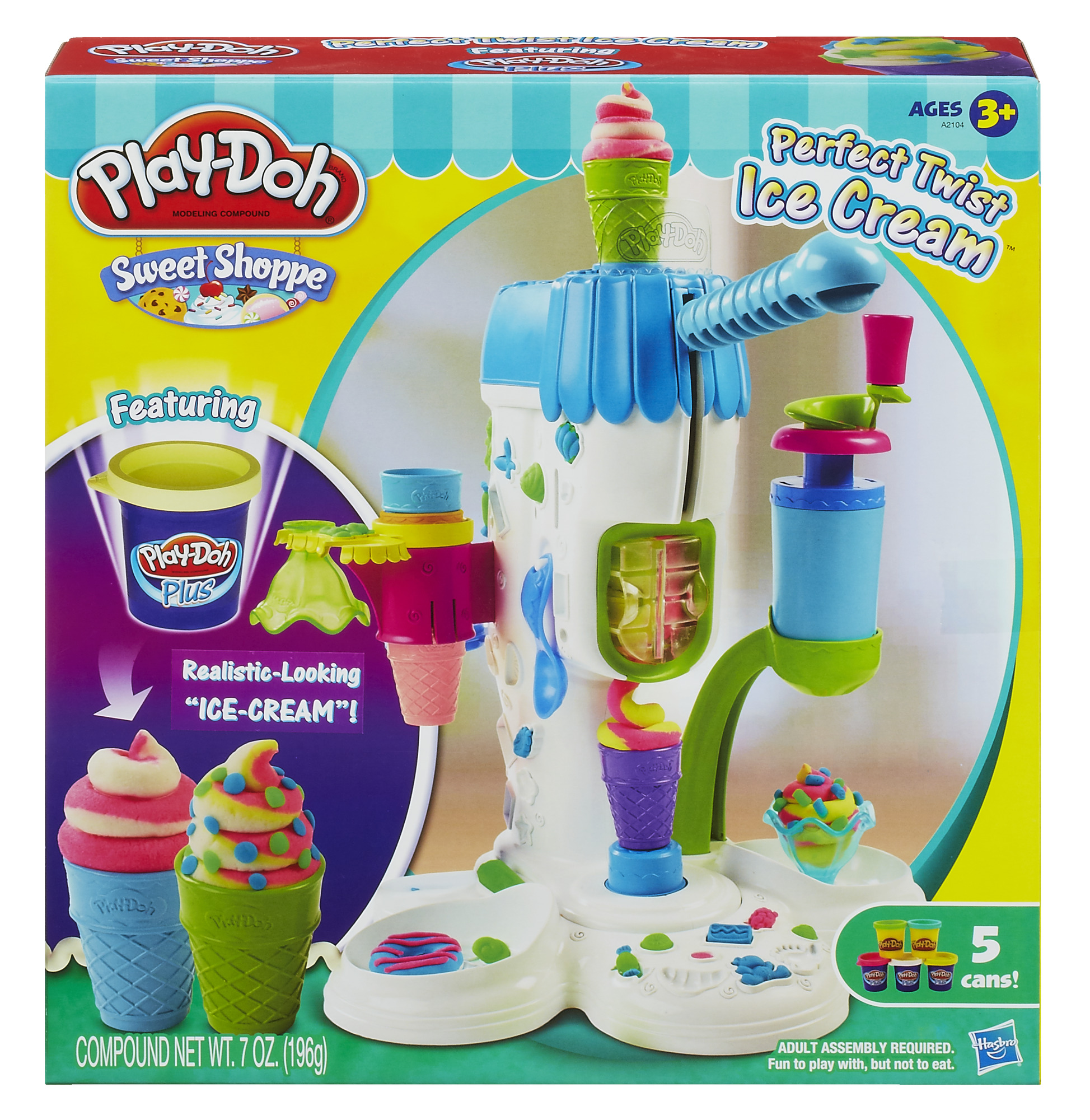 Play-Doh Sweet Shoppe Perfect Twist Ice Cream Food Set