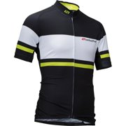 Men's Pinnacle Cycling Jersey Black/Hi-Vis MD