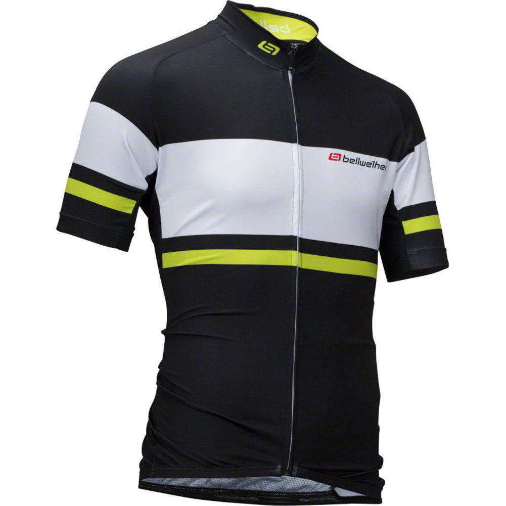 Bellwether Men's Pinnacle Cycling Jersey Black/Hi-Vis MD