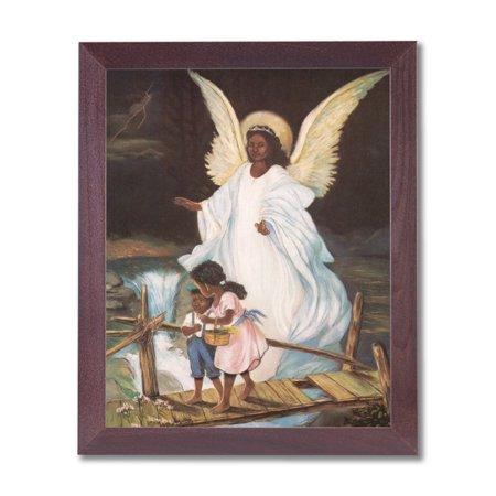 Guardian Angel With Children On Bridge African American Black